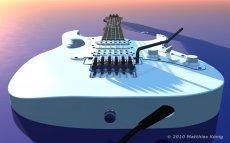 E-Gitarre in 3D